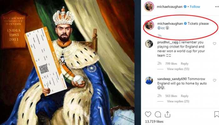 माइकल वॉन ने उड़ाया भारतीय कप्तान विराट कोहली का मजाक, कहा - टिकट लो, घर जाओ