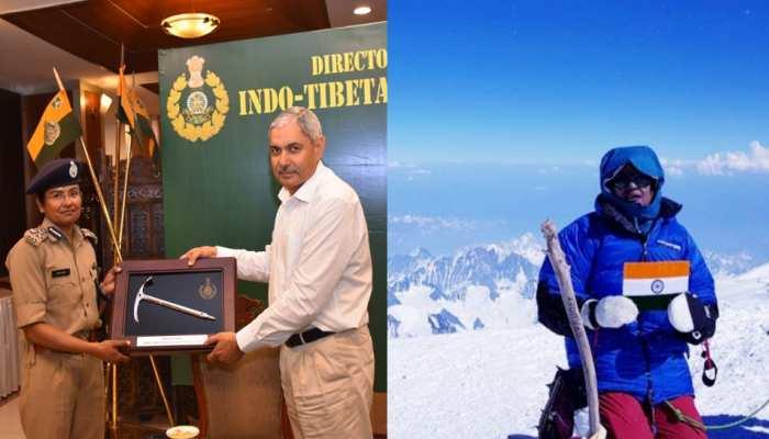 DIG अपर्णा कुमार ने पूरा किया सेवेन समित चैलेंज, ITBP के महानिदेशक ने किया सम्मानित