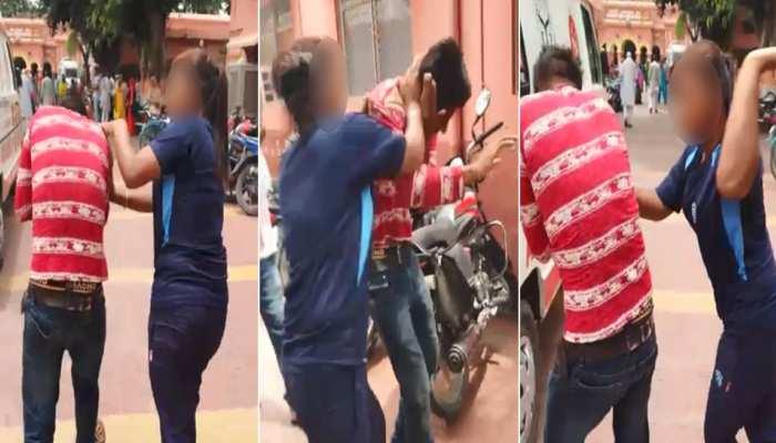 VIDEO: मुजफ्फरनगर में मनचले ने की छेड़छाड़ तो युवती ने पीट-पीटकर निकाल दिया खून