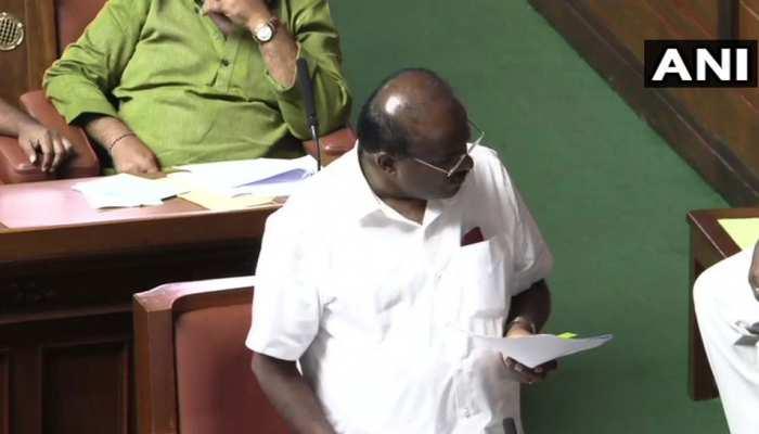 कर्नाटक : विधानसभा में बोले CM कुमारस्वामी, 'हमें बहुमत साबित करने की अनुमति चाहिए'