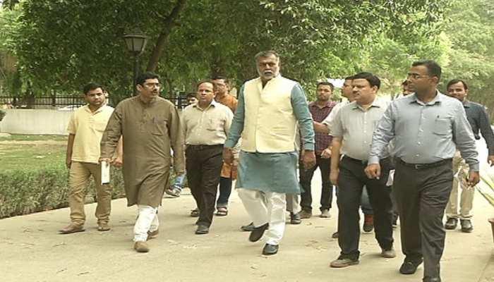 दिल्ली: गांधी दर्शन में बनेगा स्वच्छता स्मारक, मंत्री प्रह्लाद पटेल ने किया निरीक्षण