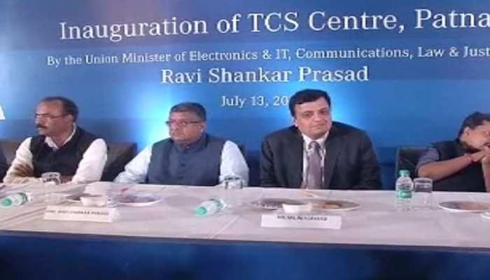 बिहार में खुला TCS केंद्र, केंद्रीय मंत्री रविशंकर प्रसाद ने किया उद्घाटन