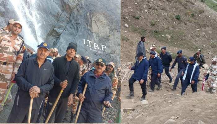44 किमी पैदल चल आईटीबीपी के महानिदेशक ने लिया अमरनाथ यात्रा की सुरक्षा का जायजा