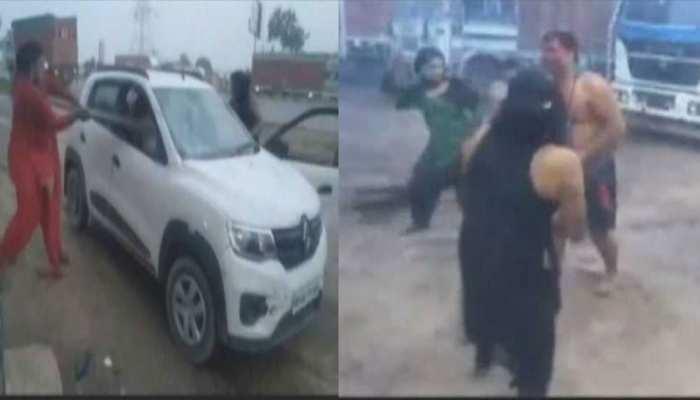 VIDEO: करनाल में किन्नरों ने शख्स को पीटा, जमकर मचाया उत्पात