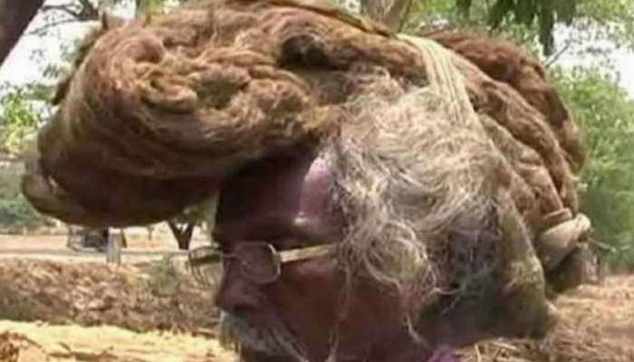 40 साल से बाल नहीं कटवाए, बन गए 'जटावाले बाबा'