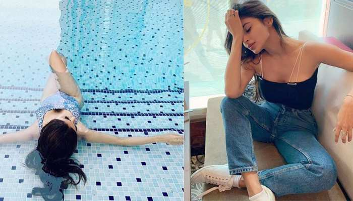 Mouni Roy shares Bikini photo relax in swimming pool social media