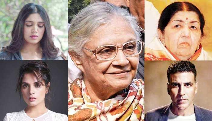 शीला दीक्षित के निधन पर बॉलीवुड ने जताया शोक, लता ने कहा- 'वह एक महान महिला थीं'