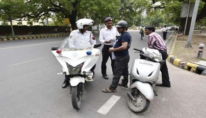 Delhi traffic police take action on hooter siren in bike