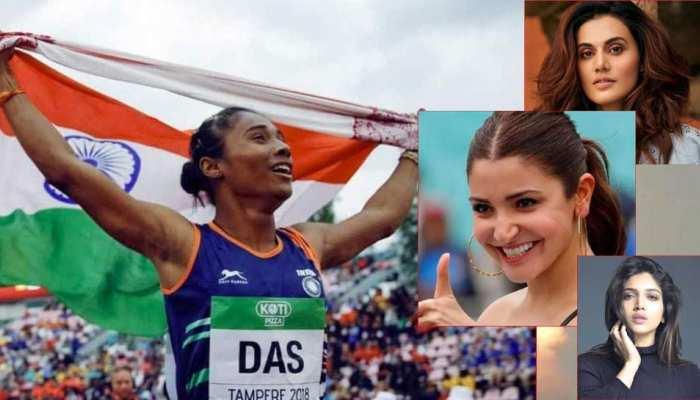 SuperGirl हिमा दास को बॉलीवुड सेलेब्स ने दी बधाई, 19 दिनों में जीते पांच स्वर्ण पदक