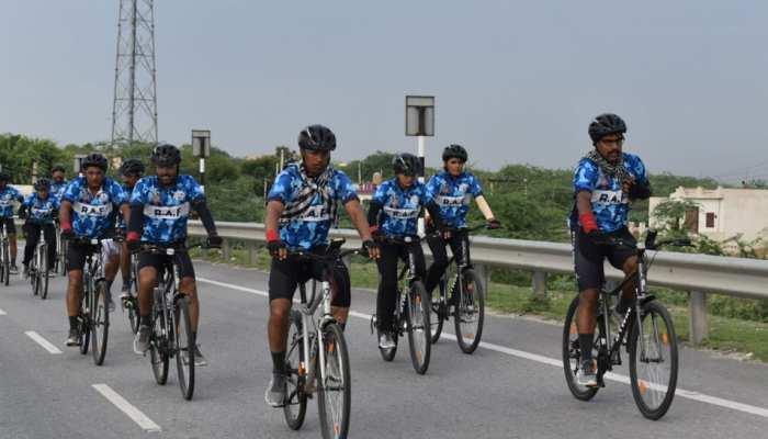जयपुर: CRPF ने निकाली 730 किलोमीटर की साइकिल रैली, दिया जल संरक्षण का संदेश