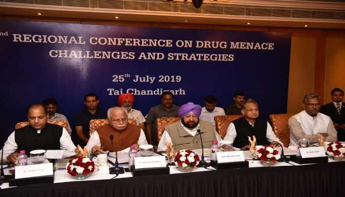 चंडीगढ़ में जुटे पांच राज्यों के मुख्यमंत्री, ड्रग तस्करी पर लगाम लगाने को लेकर हुई चर्चा