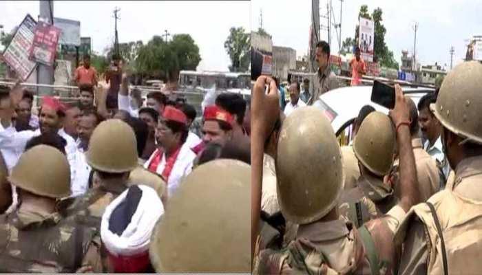 LIVE: सपा के प्रदर्शन में भाग लेने जा रहे विधायक अब्दुल्ला आजम फिर से हिरासत में