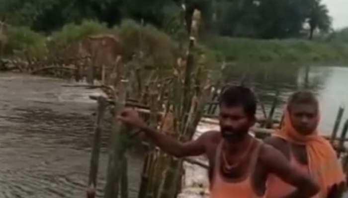 मुजफ्फरपुर में पुर्ननिर्मित बांध फिर टूटा, कई पंचायतों में घूसा नदी का पानी