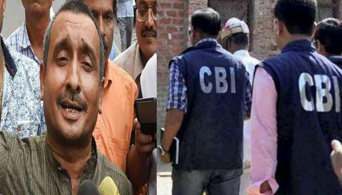 उन्नाव रेप केस: कुलदीप सेंगर के ठिकानों पर CBI की छापेमारी, आज दिल्ली ले जाने की संभावना