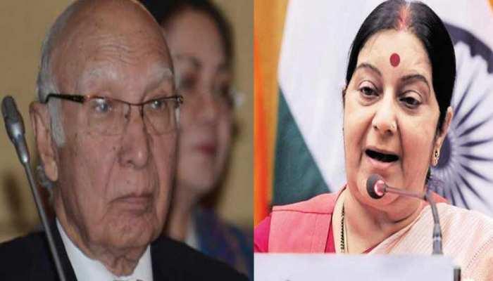 ...जब सुषमा स्वराज ने सरताज अजीज को लगाई थी लताड़, 14 मिनट में किए थे 9 ट्वीट