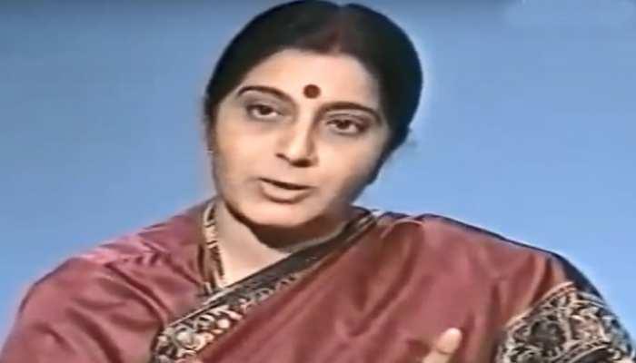 VIDEO: पाकिस्तान टीवी के स्टूडियो में इंटरव्यू के दौरान सुषमा की 'अटलवाणी'