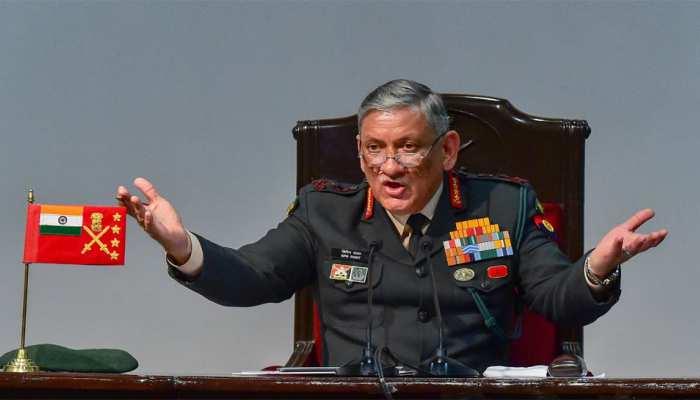 हम पाकिस्तान की किसी भी हरकत का जवाब देने को तैयार हैं : सेना प्रमुख जनरल बिपिन रावत
