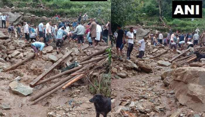 उत्तराखंड में बारिश का कहर, चमोली और टिहरी में बादल फटा, 5 लोगों की मौत