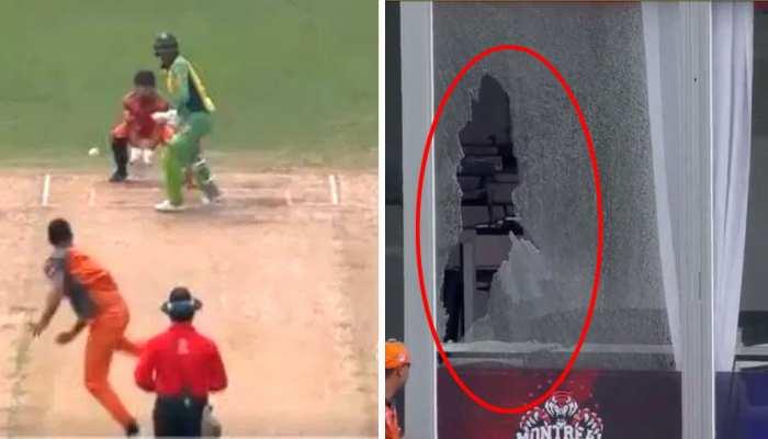 VIDEO: वनडे से संन्यास के बाद इस क्रिकेटर ने टी20 में मारे ताबड़तोड़ छक्के, ड्रेसिंग रूम के शीशे हुए चकनाचूर
