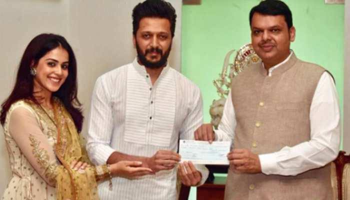 महाराष्ट्र बाढ़ पीड़ितों की मदद के लिए आगे आए जेनेलिया-रितेश, दान किए 25 लाख रुपये