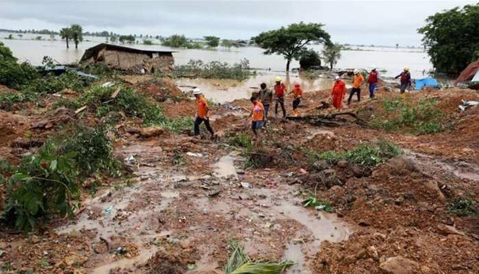 म्यांमार: भूस्खलन से मरने वालों की संख्या 59 हुई,  38,000 लोग हुए बेघर