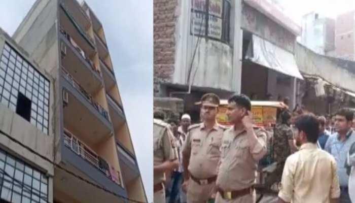 गाजियाबाद: खोड़ा में 6 मंजिला इमारत झुकी, लोगों से खाली कराए घर