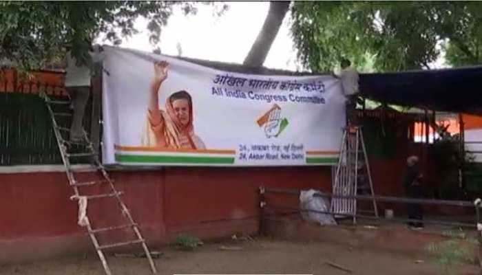 कांग्रेस दफ्तर से राहुल गांधी 'ऑउट', नेम प्लेट, पोस्टर हटाए गए