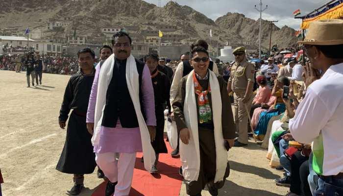 BJP महासचिव राम माधव ने लेह में मनाया स्वतंत्रता दिवस, बोले, 'लद्दाख के लोगों का सपना पूरा हुआ'