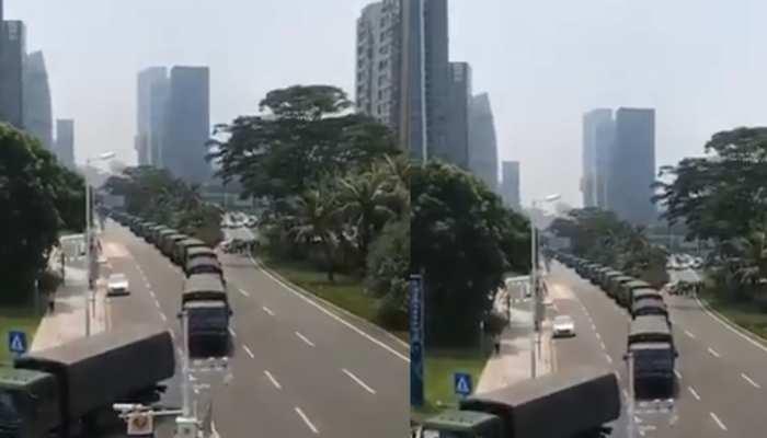 हांगकांग में लाखों लोगों पर बर्बर दमन की तैयारी में चीन, सैकड़ों बख्तरबंद गाड़ियां तैनात