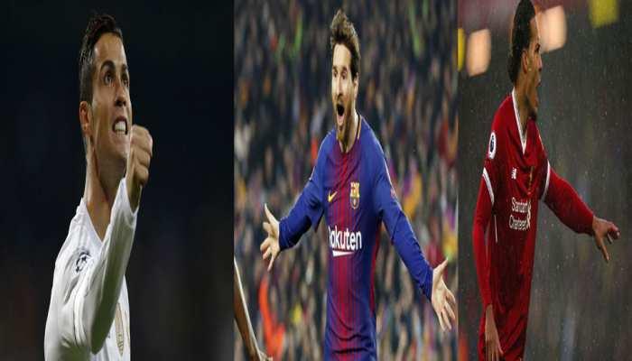 Football: मेसी, रोनाल्डो और वान डिक UEFA 'प्लेयर ऑफ द ईयर' अवॉर्ड जीतने की रेस में