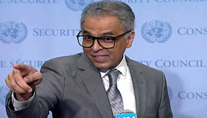 UN में पाक पत्रकारों ने पूछा सवाल, भारत के एंबेसडर ने हाथ मिलाकर की बोलती बंद, देखें VIDEO
