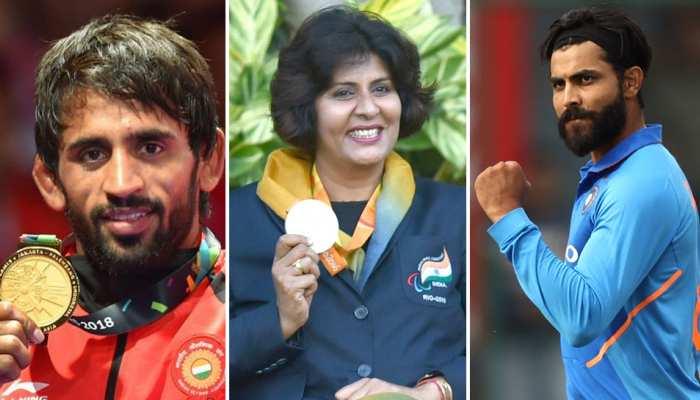 बजरंग पूनिया और दीपा मलिक को खेल रत्न, रवींद्र जडेजा को मिलेगा अर्जुन अवॉर्ड