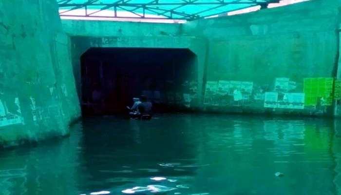 सीकर में भारी बारिश से जलमग्न हुए कई अण्डरपास, पानी में फंसी सवारियों से भरी बस