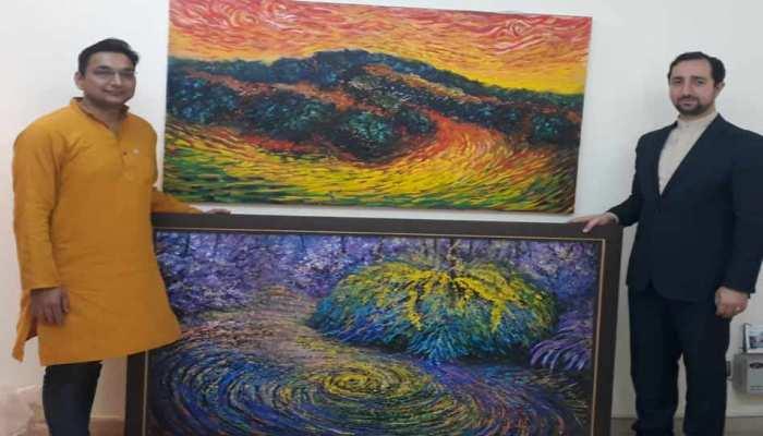 दिल्ली के इस टीचर की पेंटिंग ईरान में 'हाल ऑफ फेम' के लिए चुनी गई