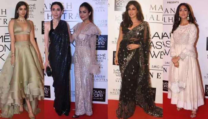 Lakme Fashion winter festive 2019 Khushi Kapoor Karisma Kapoor and other bollywood celebs