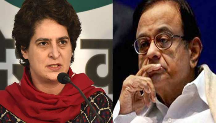 केंद्र सरकार की असफलताओं को उजागर करने की चिदंबरम को मिल रही है सजा: प्रियंका गांधी