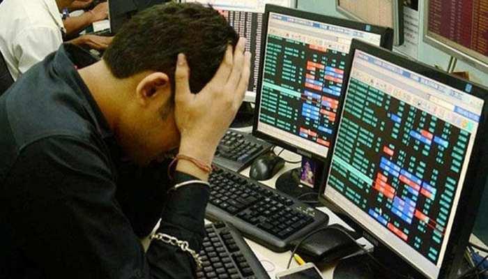 लगातार तीसरे दिन शेयर बाजार में भारी गिरावट, सेंसेक्स 587 अंक टूटा