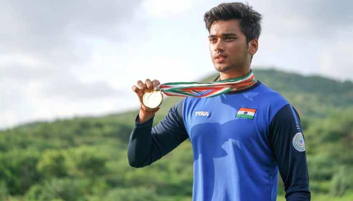 former sports minister Rajyavardhan singh rathore son manavaditya rathore won gold medals in Rajasthan State Open Shooting Championship