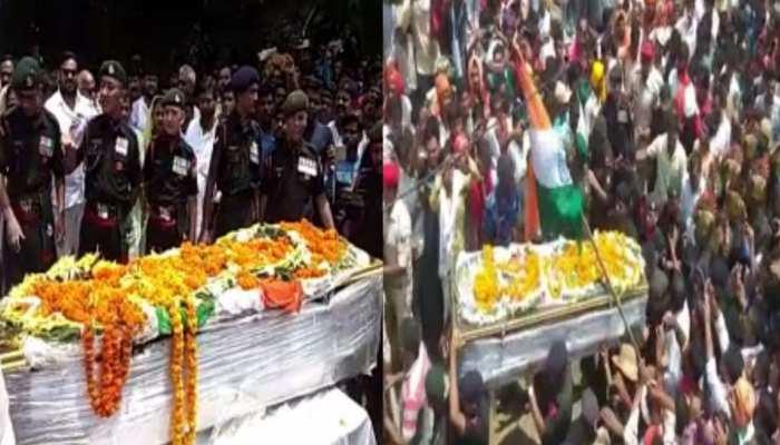 सासाराम के शहीद रवि रंजन का पार्थिव शरीर पहुंचा गांव, अंतिम यात्रा में उमड़ा जनसैलाब
