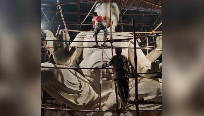 PHOTOS: 22.5 feet high eco-friendly Ganesh statue built in Mumbai in rupees 12 lakhs
