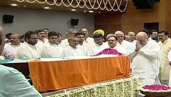 अरुण जेटली को देश का अंतिम नमन, राजनीति के 'अजातशत्रु' को श्रद्धांजलि