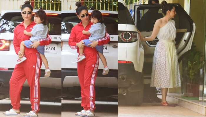 Taimur spot with mother kareena kapoor and Karisma Kapoor