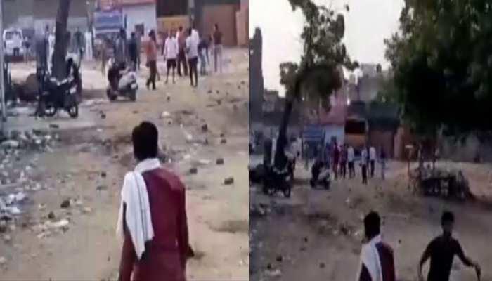 VIDEO: आगरा में दरगाह की जमीन को लेकर दो पक्षों में हुआ पथराव