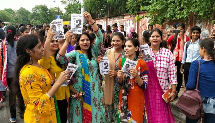 see the colors of Rajasthan Student union election in pictures