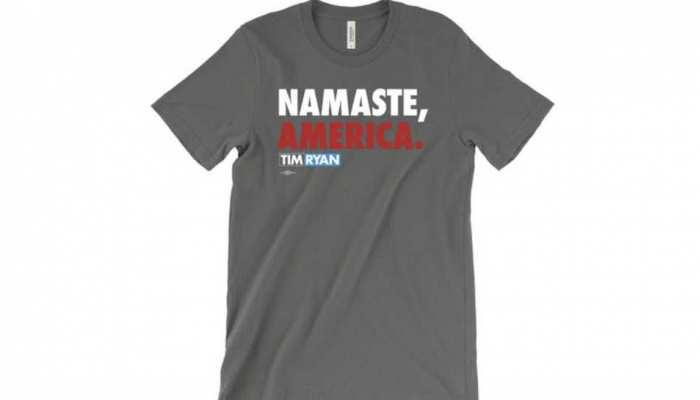 डेमोक्रेट उम्मीदवार ने 'नमस्ते अमेरिका' टी-शर्ट लॉन्च किया