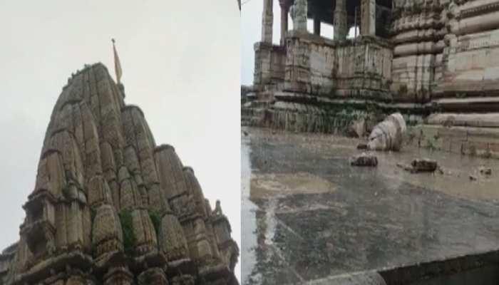 चित्तौड़गढ़ में मुसलाधार बारिश से लोग बेहाल, कुकड़ेश्वर मंदिर भी हुआ क्षतिग्रस्त