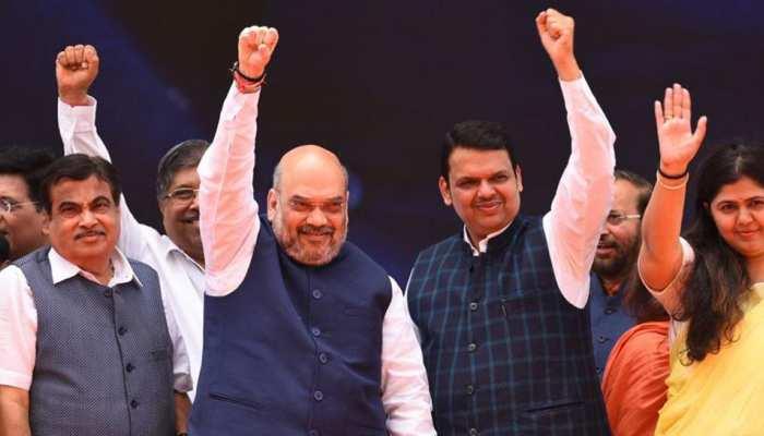 अमित शाह आज महाराष्ट्र में करेंगे रैली, कांग्रेस-एनसीपी के नेताओं को दिलाएंगे BJP की सदस्यता