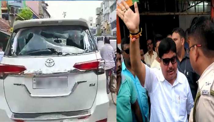 पश्चिम बंगाल में BJP सांसद अर्जुन सिंह की कार पर हमला, TMC समर्थकों पर आरोप