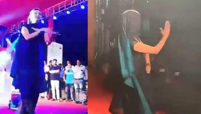 सपना चौधरी ने स्टेज पर घूंघट में किया धमाकेदार डांस, VIDEO हुआ VIRAL