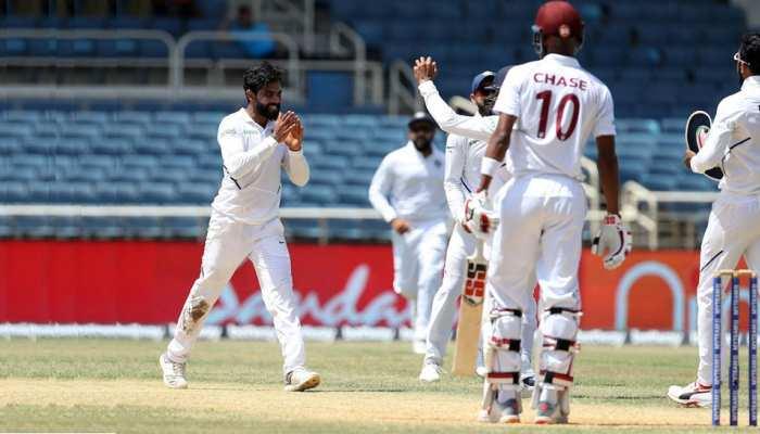 IND vs WI: जमैका टेस्ट की आखिरी पारी में चमके रवींद्र जडेजा, कप्तान विराट से मिली तारीफ